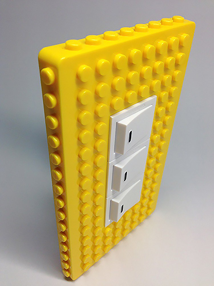 Qubefun blocks hook power cover +3 into the wooden hook (vibrant yellow) # compatible LEGO # cute gift