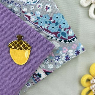 Round roll pineapple self-adhesive embroidered cloth stickers - Forest Series