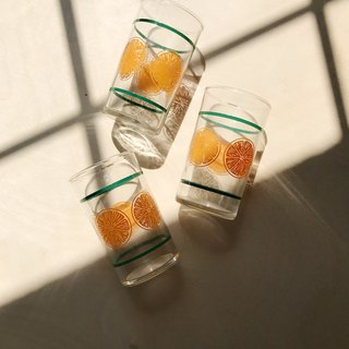 Early water cup / glass / summer orange