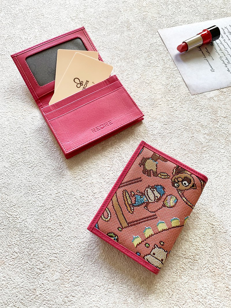 缇花织画Flip business card holder happy mini circus (pink) pink
