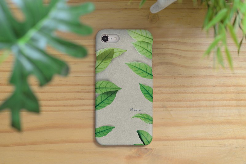 iphone case two side leafs for iphone5s, 6s, 6s plus, 7, 7+, 8, 8+, iphone x