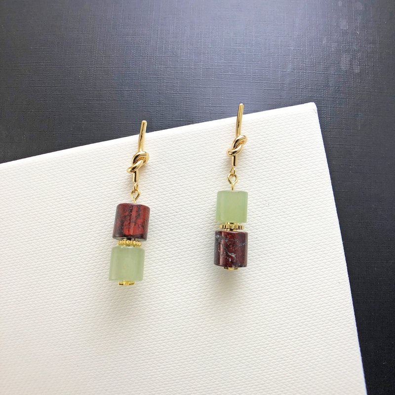 Jade 14KGF Earrings (Wedding) (Party Wear) 【Valentines Day Gift】 New Year Gift