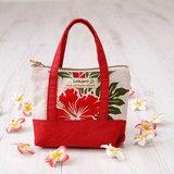 Pouch(mini bag style)〜Hibiscus Red〜LaKaori Original