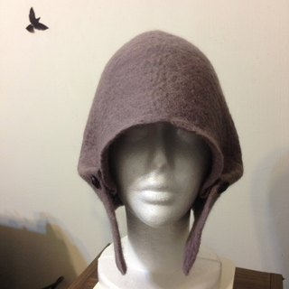 Fuer round wool felt hat (purple taro)