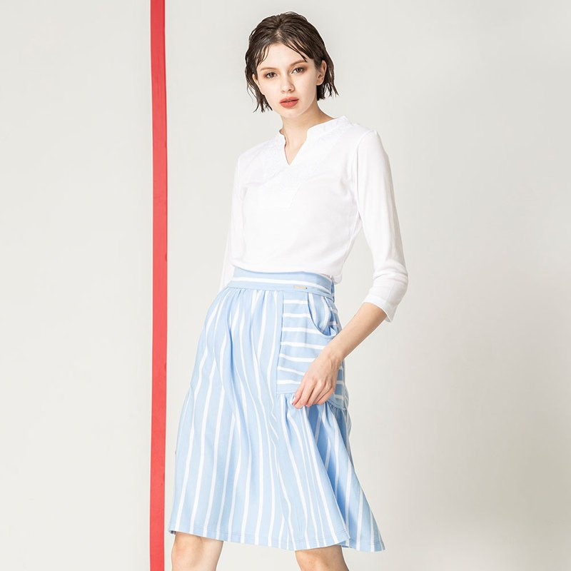 Design stripe pocket umbrella skirt