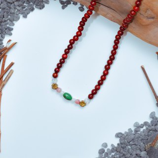 Suddenly (108 Bracelets / Rosary Series) Red Rosewood - Blazing Heart