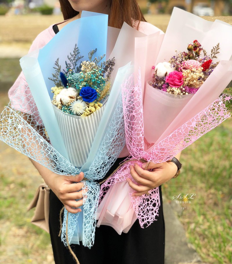 SSL large immortal rose bouquet birthday / graduation bouquet / Valentine's Day / dry bouquet / eternal flower