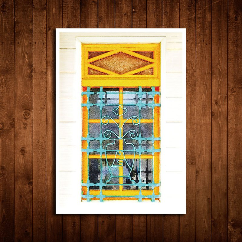 Old House – Iron Window Flower Postcard – 70 Chiayi/Safe Window Flowers