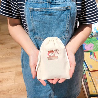I want you の cat daily cat canvas beam pocket hand-printed Drawstring bag