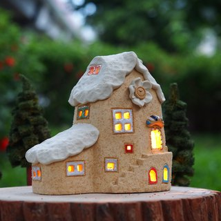 [Lighthouse] Lighthouse House - Lovely Home/Ceramic Lighted House/Wood Accessories and Handmade Tree Owl