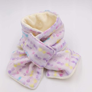 Warm heart hand made purple bottom bow double yarn warm neck circumference design section Mi Yue warmth