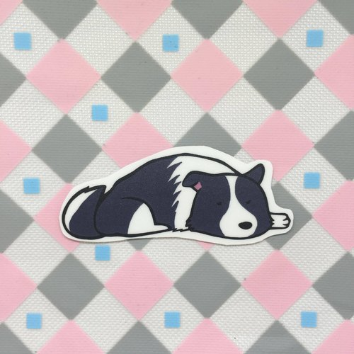 Border Collie - lying sleeping section / waterproof stickers