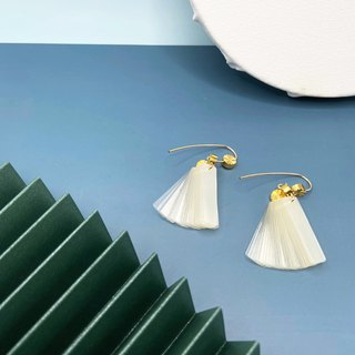 ART DECO – COLE COOL 14KGF Earrings – 【Dancing Earrings - Sun& Crystal】II