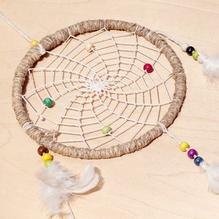 Christmas rainbow colored hand-woven cotton Dreamcatcher Charm - Original color 16 cm (large)