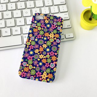 60s Flower Blue Print Soft / Hard Case for iPhone X,  iPhone 8,  iPhone 8 Plus,  iPhone 7 case, iPhone 7 Plus case, iPhone 6/6S, iPhone 6/6S Plus, Samsung Galaxy Note 7 case, Note 5 case, S7 Edge case, S7 case
