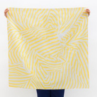 Stripe Furoshiki Yellow and Pale Gray