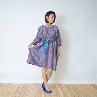 silk100% dress/ natural dye /indigo  log wood /formal /2way