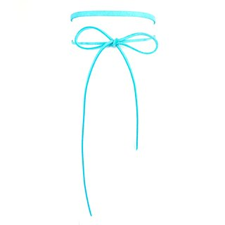Classic rope necklace - light blue