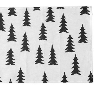 Nordic style designer – fir table mat (black) Gran Place Mat, Black
