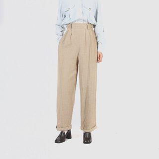[Egg plant ancient] simple days 缇 flower texture vintage trousers