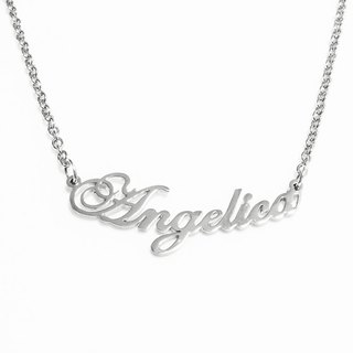 Custom name necklace hand wringting curve stlye