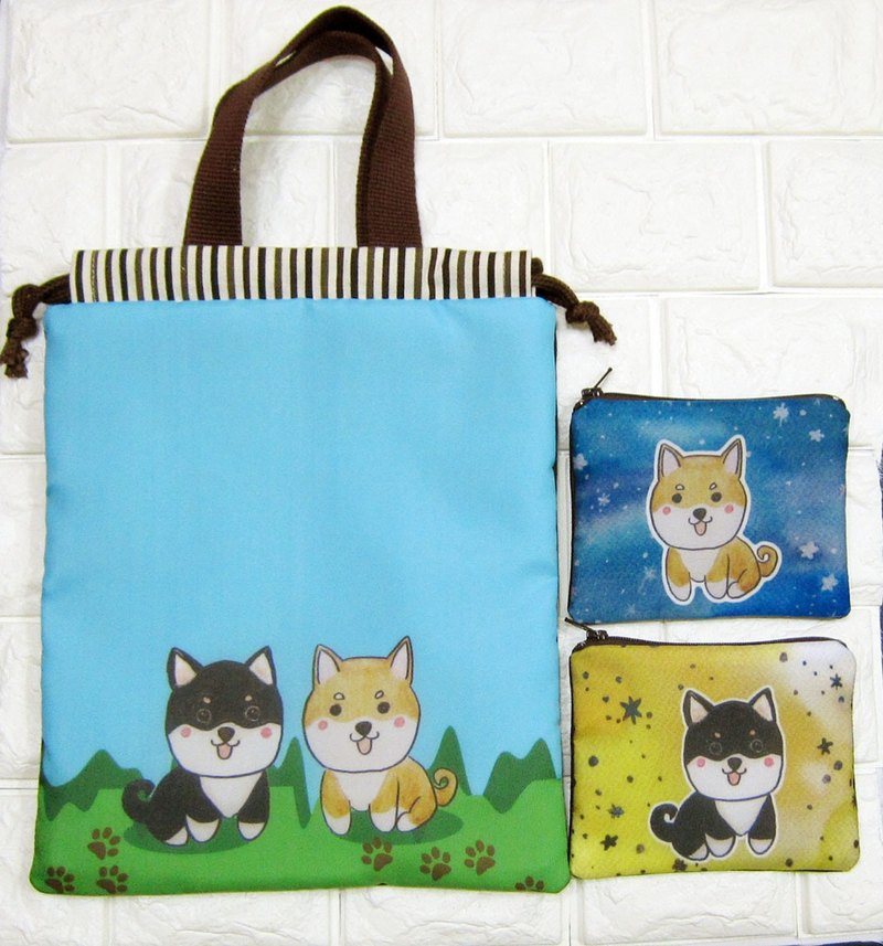 [Surprise combination package _ Shiba Inu] + a key fob a pouch