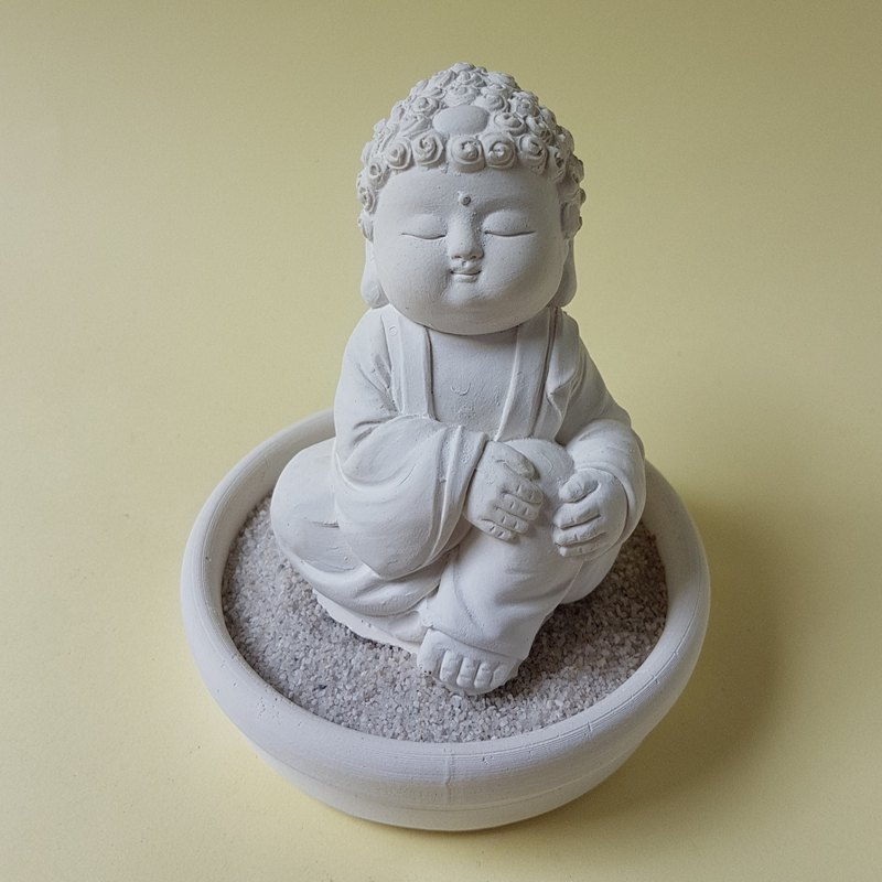 Miniature Small meditation Buddha 1806, Zen/Fairy Garden Supplies DIY Accessory
