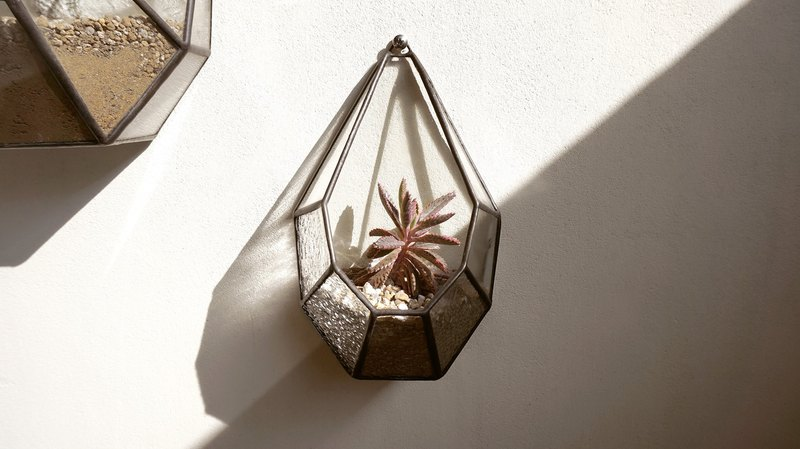 Sunlight small terrace-M Hanabusa Succulents candlestick hanging glass decorated with decorations