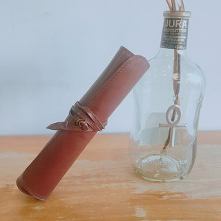 [梁絮皮艺] cowhide leather pencil case / handmade / tools / stationery / watercolor pen / brush