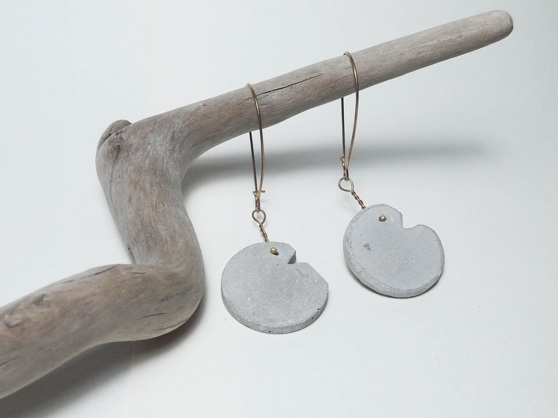 Cement Handmade Earrings Earrings - Imperfect Round