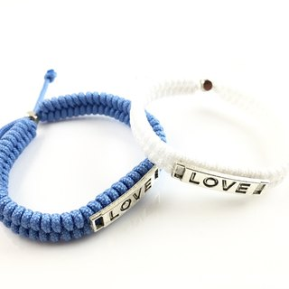 Valentine's flagship product - LOVE [Love] hand rope combination together away! (Blue & white)
