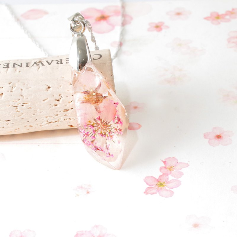 Custom Sakura Pet Tooth Necklace