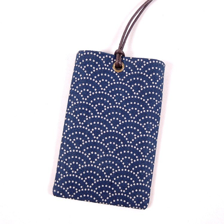 Youyou card ID card set card holder card bag - Japanese totem (Qinghai wave)