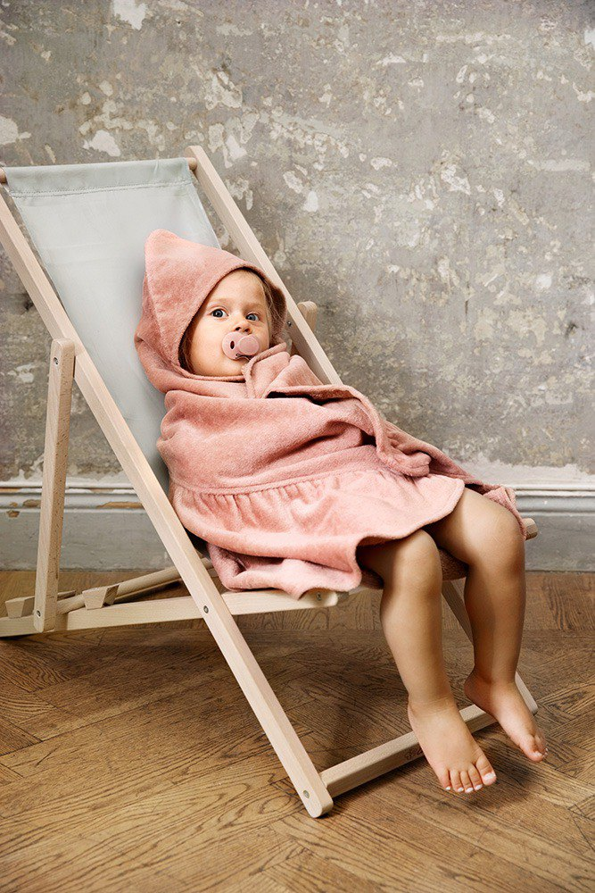 Elodie Details HOODED TOWEL - Faded Rose