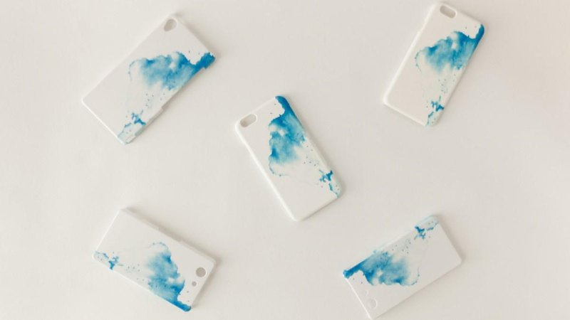 "[Order Production] SmartphoneCase ""Blue, Clouds"""
