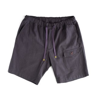 Japanese washed cotton and linen shorts