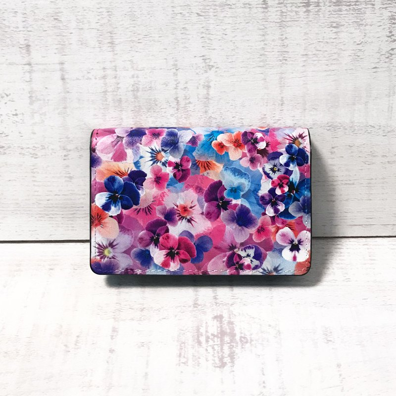 Card Case Pansy / Business Card Holder / Office Worker / Graphic / FLOWER