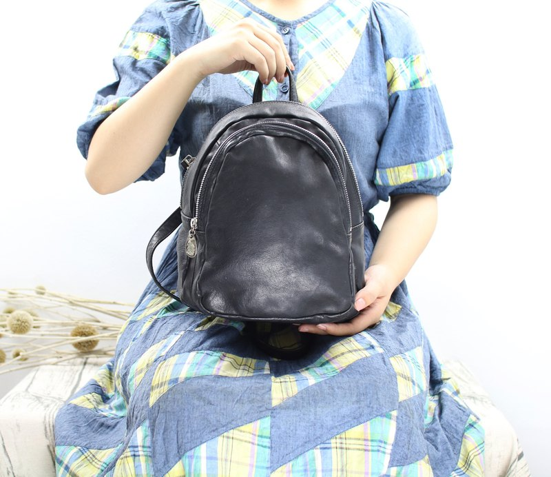 Back to Green:: Double Backpacks // Vintage Bag