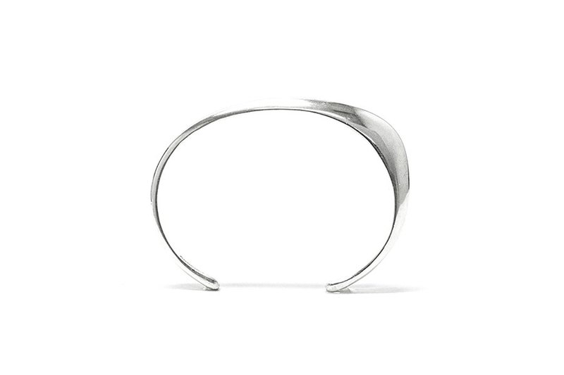 Sharp angle arc 925 sterling silver bracelet