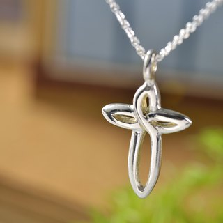 Flower Series/925 Sterling Silver/Necklace/Cross