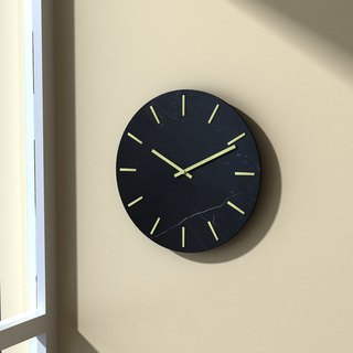 Nordic style natural marble wall clock
