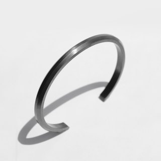 NEW COLOR! Wide Bevel Cuff Bracelet | Grey Brushed Stainless Steel