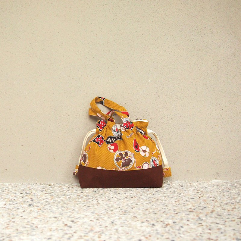 Handmade Japanese Handbag Pocket - Celebration (S)