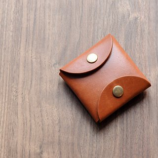 [DOZI leather hand made] square coin purse