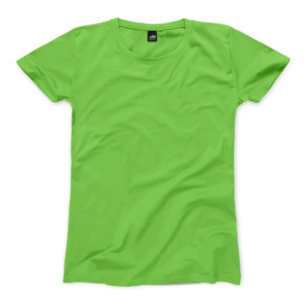 Neutral plain short-sleeved T-shirt - Green fruit