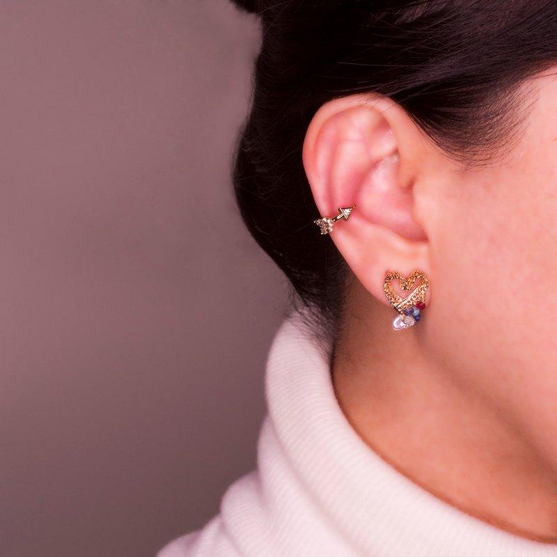 Lace Cuore - 蕾絲愛心耳環