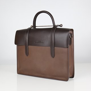 Musician clef leather bag - Mocha