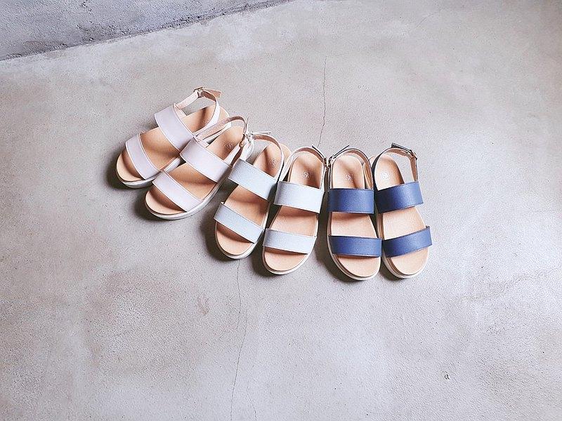 【巴洛克】簡約鬆糕厚底涼鞋_裸粉  手工訂製  MIT