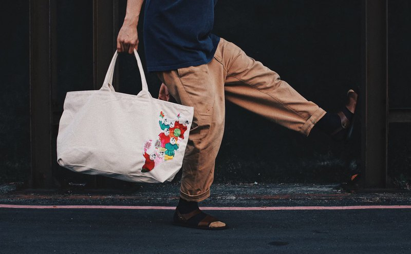 笑诙商行_百子em embroidery stitching series _tote