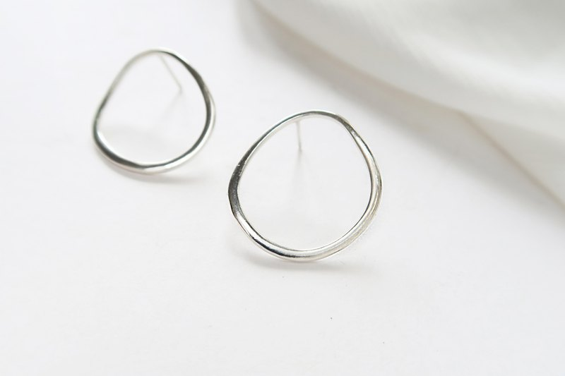 Silver925 light Circle Earrings